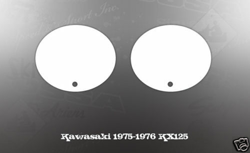 KAWASAKI 1975-1976 KX125 SIDE COVER NUMBER PLATE DECAL