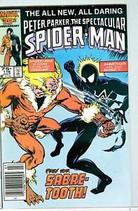 Spectacular-Spider-Man-116-July-1986-F-VF-Sabretooth