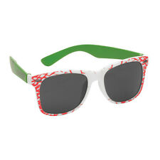 Santa Cruz SLASHER Wayfarer Style Sunglasses WHITE/GREEN