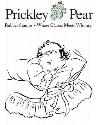 New PRICKLEY PEAR RUBBER STAMP cling  50'S SLEEPY TIME BABY FREE US SHIP