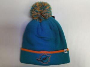 47 Brand Winter Cuffed Pom Knit Hat Baraka NFL Miami Dolphins  9063c55ca73d