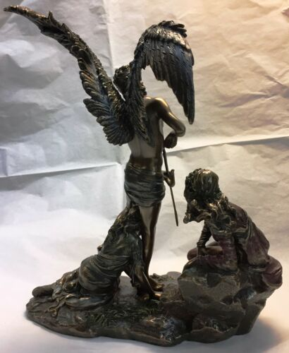 Eros w Bow Arrow Greek Cupid w Two Maidens at his Feet Figurine Statue Love