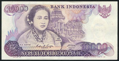 INDONESIA 10.000 Rupiah 1985 Banknote Note P 126 P126 AU-UNC