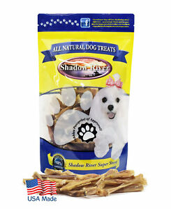 Shadow River SKINNY MINI Dog Bully Bites - 100% USA Beef Bully Stick Pieces 10oz