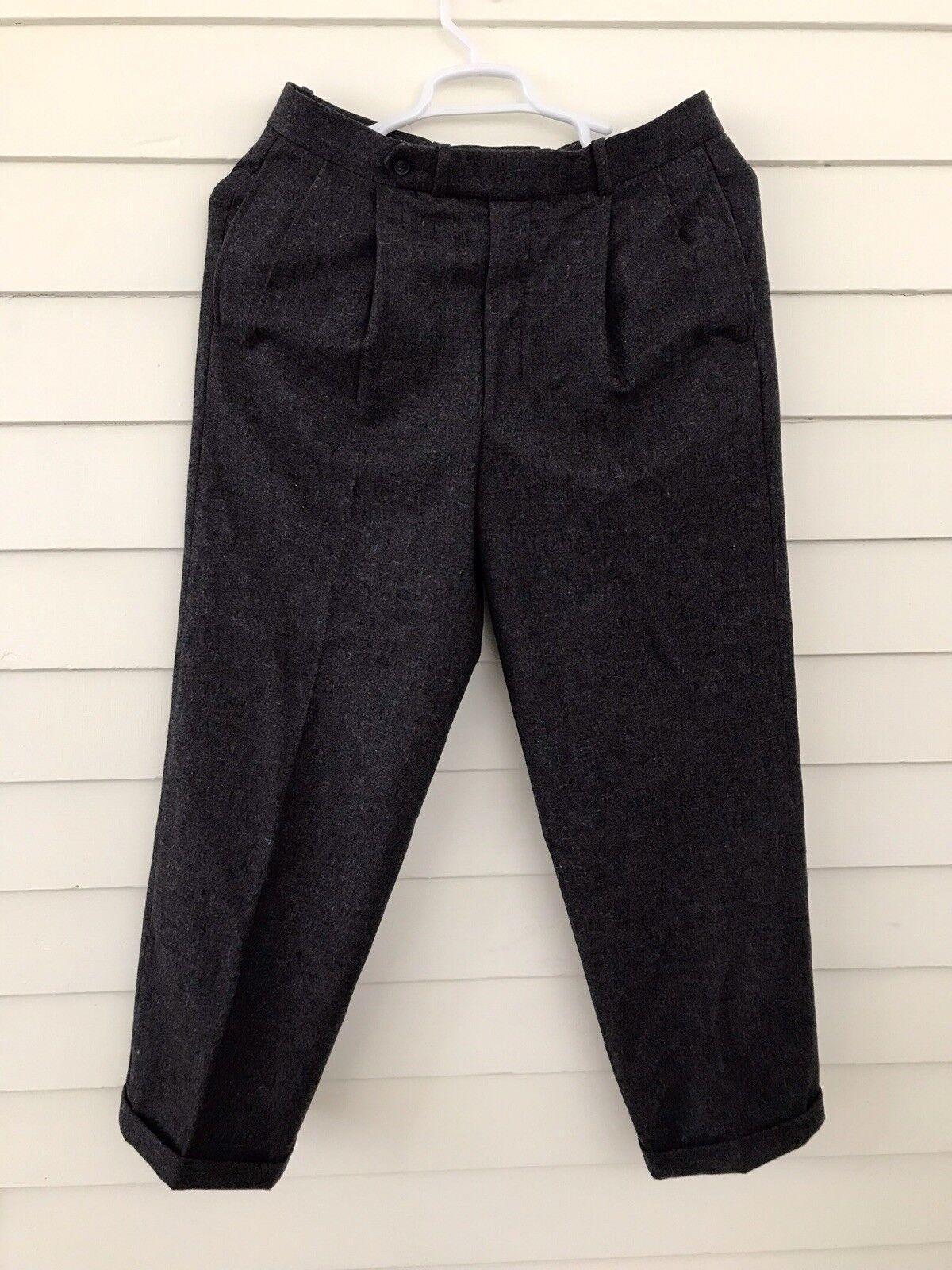Men's F.lli Garlanda Pants 33 100% Virgin Wool  Tailored In Korea Pleated