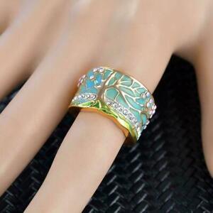Frauen-Vintage-Baum-Ring-Kreative-Ring-Schmuck-Zubehoer-Modeschmuck-F4P0