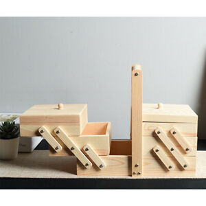 Sewing-Box-3-Tier-Wood-Cantilever-Sew-Kit-Container-Organizer-Holder-Table-Decor