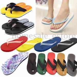 002ba3038e64 Men Women Unisex Summer Casual Flip Flops Beach Slippers Sandals ...