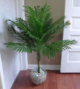 Http Www Ebay Com Itm 34 Paradise Palm Bush Artificial Plants Tree Home Garden Office Decor 142240934003