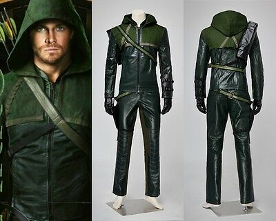 Green Arrow Oliver Queen Halloween Cosplay Costume Full Set
