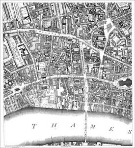 image is loading fleet street temple london map 1813 2 4