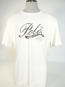Polo-Ralph-Lauren-Signature-Vintage-White-Short-Sleeve-Tee-T-Shirt-Mens-NWT