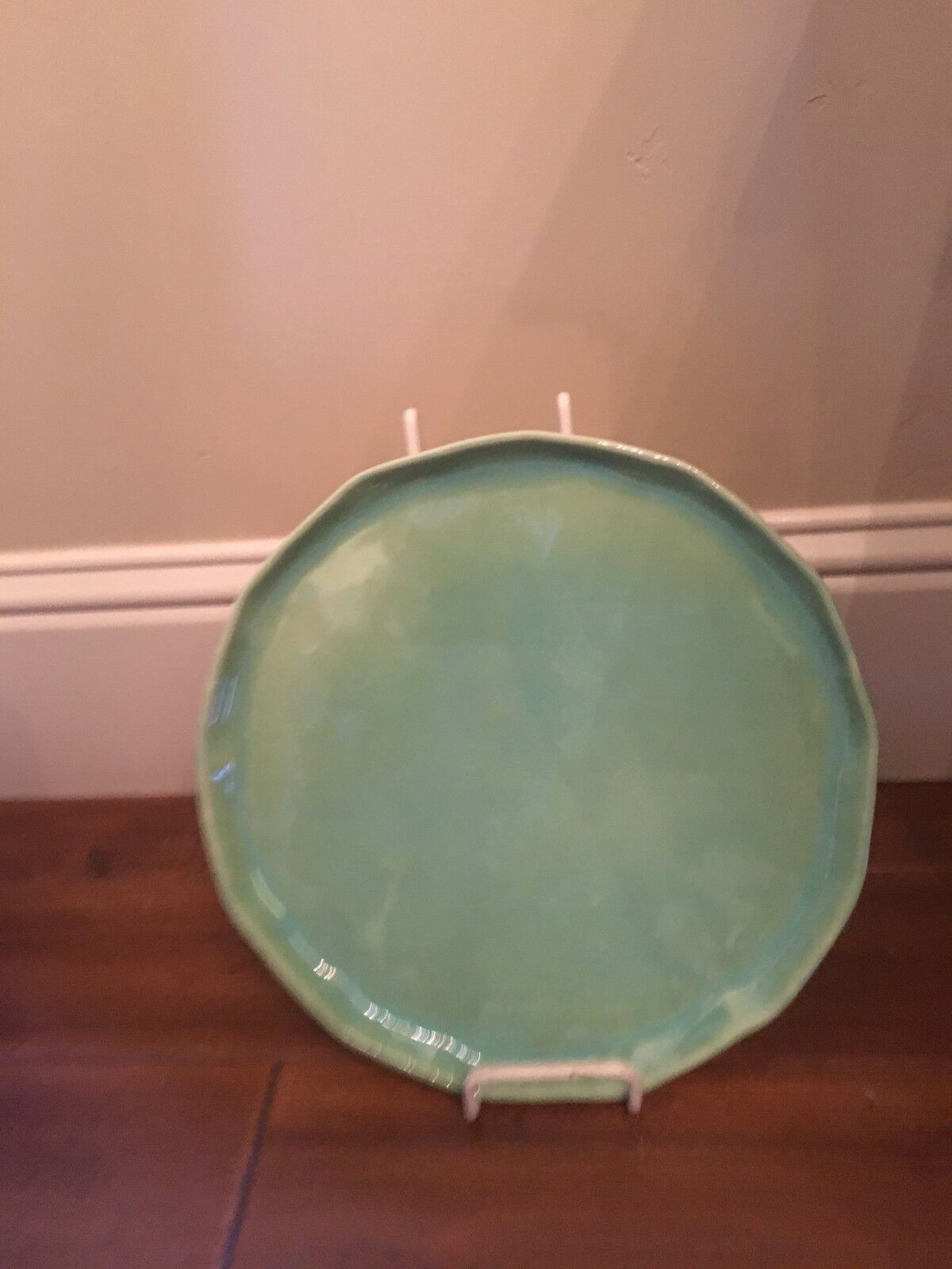 Vietri Forma Leaf Green Round 12.5  Platter Charger Made in  NEW FOM-1121LE