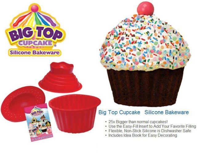 Jumbo Cupcakes Bake Set 25x Bigger Than A Big Cupcake Also