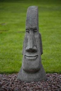 Merveilleux Image Is Loading Large Easter Island Stone Head Garden Moai Easter
