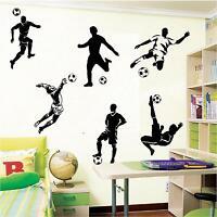 FOOTBALL FOOTBALLERS 6 SET SOCCER WALL ART BOYS BEDROOM WALL STICKERS