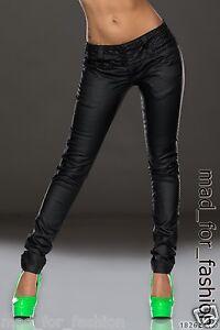 Sexy-Piel-Sintetica-Pantalones-Con-Decorativos-cinturilla