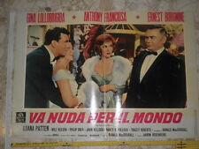 Locandina film - VA NUDA PER IL MONDO con Gina Lollobrigida & Anthony Franciosa