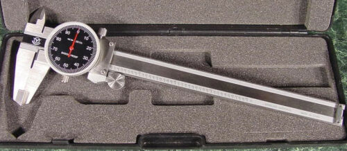 """6 /"""" SAE Stainless Steel DIAL CALIPER with CASE Brand New digital mic inch"""