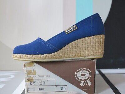 First Estate Scarpe Bast Scarpe Slippers Blu 90er True Vintage 90s Shoes Blue Nos-mostra Il Titolo Originale Sii Amichevole In Uso