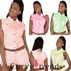 New Women Ladies Neon Pink Green Denim Jacket Shorts Summer Set Size 8 10 12 14