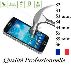 VERRE-TREMPE-Galaxy-S3-S4-S5-S6-MINI-protecteur-film-protection-d-039-ecran-Samsung