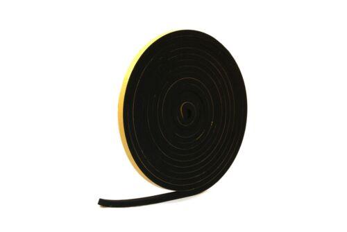Black Self-adhesive Neoprene Rubber Sponge Neoprene Strip 8mm Thick x 5m Long