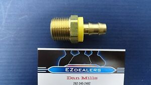 """Brass 3/8"""" Hose Barb x 1/2"""" Npt Male Pipe,Push-On Hose end"""