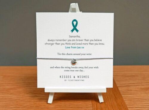 buena suerte Personalizado Pulsera de deseos de cáncer cervical Hecho a Mano-obtener bien pronto