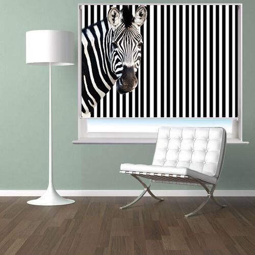 Impression Noir numérique photo roller blind zebra barcode style Noir Impression out fenêtre aveugle 44a835