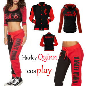Women-Harley-Quinn-Joggers-Trousers-Lounge-Wear-Tracksuit-Bottoms-Tops-Pants-Lot