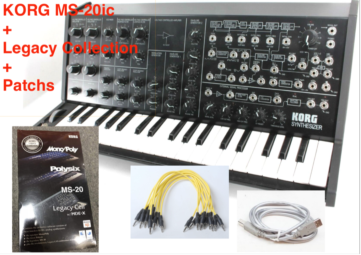 Korg MS-20ic Controller + Neu Legacy Collection Software Polysix 2007 + Patches