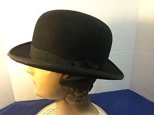 Details about Vintage John B. Stetson Derby Bowler Hat 6 7 8