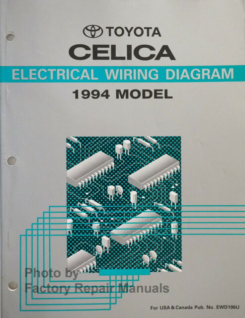 1994 Toyota Celica Electrical Wiring Diagrams Original ...