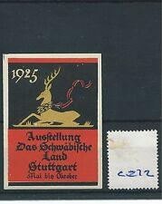 wbc. - CINDERELLA/POSTER - CE72 - EUROPE- AUSSTELLUNG SCHWABISCHE STUTTGART-1925