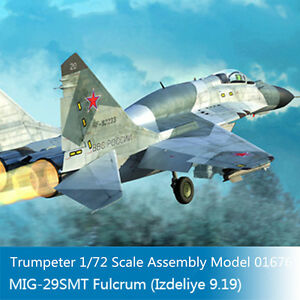 Trumpeter-01676-1-72-Russian-MIG-29SMT-Fulcrum-Izdeliye-9-19-Fighter-Model-Kits
