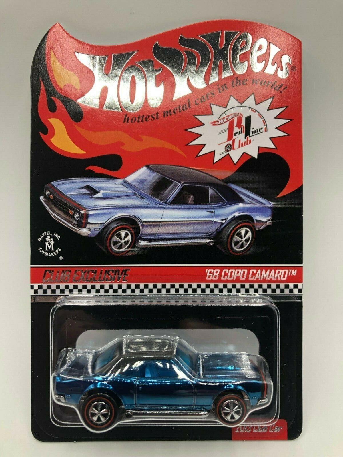 Hot Wheels Club Exclusive 68 Copo Camaro bluee Spectraflame 2013 Club Car MIBP