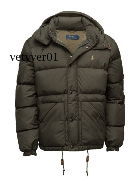 1f8af3dc New Polo RALPH LAUREN Water-Resistant Detachable Hood Down Jacket/Puffer  Green