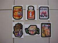 Wacky Packages Flashback All 6 Bonus Stickers In Stock
