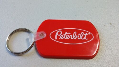 rubber peterbilt chain keychain truck mud flap  key car new gift