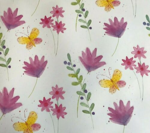 2 Sheet Gift Wrapping Paper DELICATE FLORAL Ladies Mum Thanks Birthday Occasion