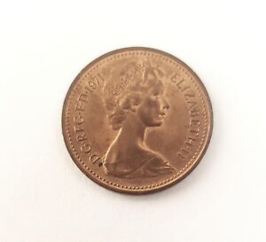 1971 new pence 1p coin