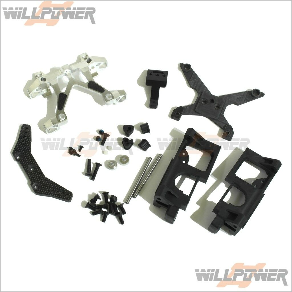 G4 Parts Speed Shot Front Bulkhead System  K14124 (RC-WillPower) Team Magic TM