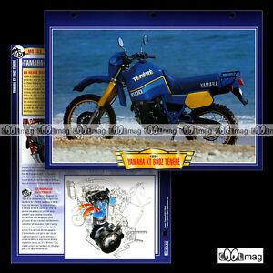 """#093.04 Fiche Moto YAMAHA XT 600 Z TENERE (XTZ) 1986 Trail Bike Motorcycle Card - France - État : Occasion : Objet ayant été utilisé. Consulter la description du vendeur pour avoir plus de détails sur les éventuelles imperfections. Commentaires du vendeur : """"Excellent état / Great condition"""" - France"""