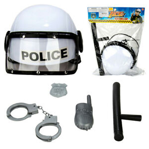 5 pcs police Semblant Jouet Jeu Combat Casque Accessoires Pour Enfants Cadeau De Noël