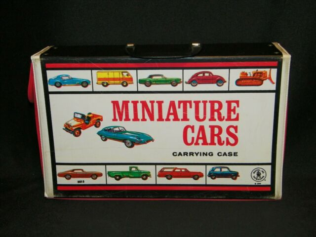 OLD VINTAGE 1966 MATTEL HOTWHEELS MATCHBOX TOY CAR CARRYING STORAGE CASE