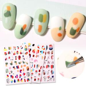 3D-Nagel-Aufkleber-Picture-Flowers-Abziehbilder-Transfer-3D-Nail-Art-Dekoration