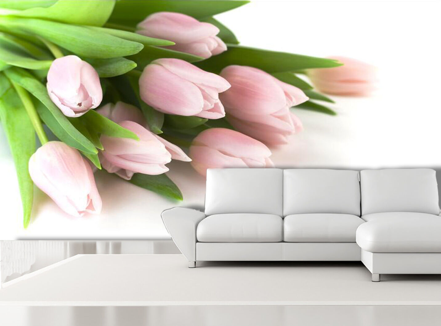 3D Beautiful Tulips Flowers Wall Paper Print Decal Wall Deco Indoor wall Mural