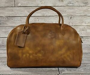 6f8868b5cd Image is loading Ralph-Lauren-RRL-Distressed-Leather-Duffle-Bag-New-