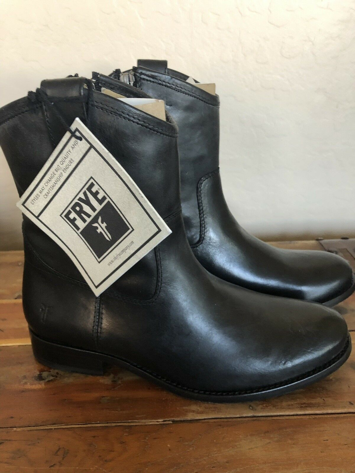Fry Boots Black Leather Cowgirl Riding Riding Riding Winter Block Heel 7.5 8c2514